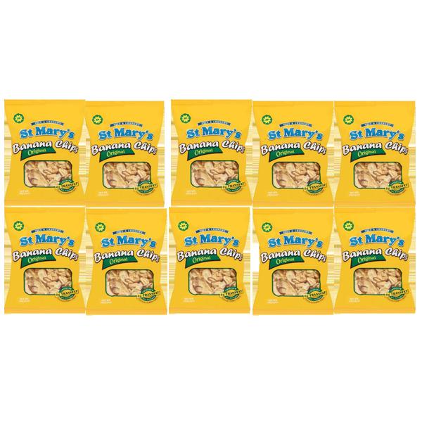 セントメリーズバナナチップス  10 パック (30g )