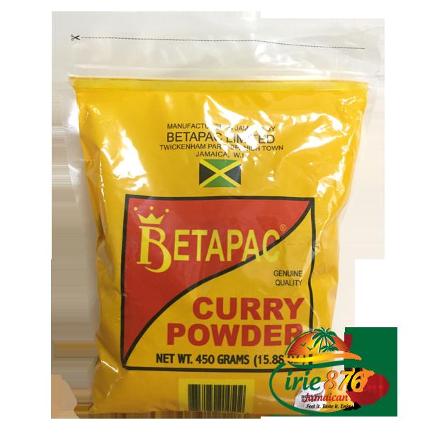Betapac Curry Powder ( カレー粉 450グラム. (ジャマイカのカレーチキンのために) ジャマイカNo.1のカレー粉.