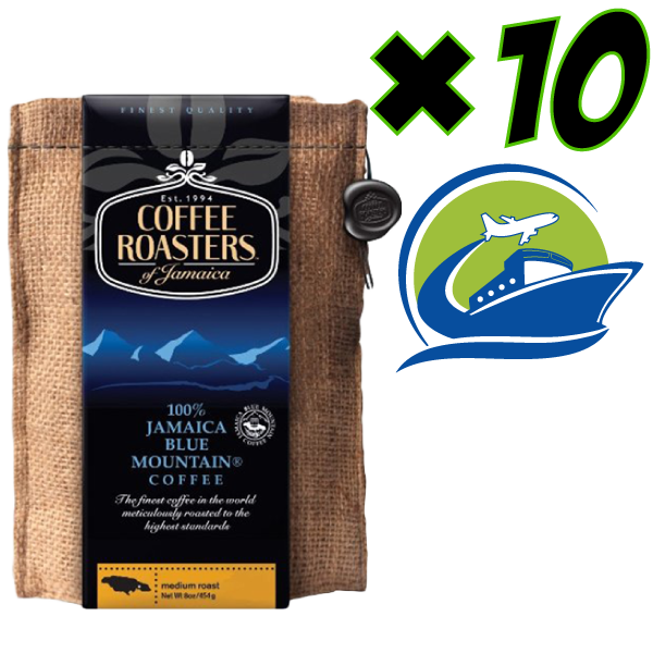"""10* パック """"Coffee Rosters"""" Blue-Mountain コーヒー8オンス ピーベリー100% ( 8 oz )"""