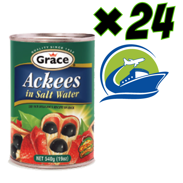1ケース(Grace ackeeの24缶入り) ジャマイカから直送  ( 24 cans of Grace ackee) shipped from Jamaica