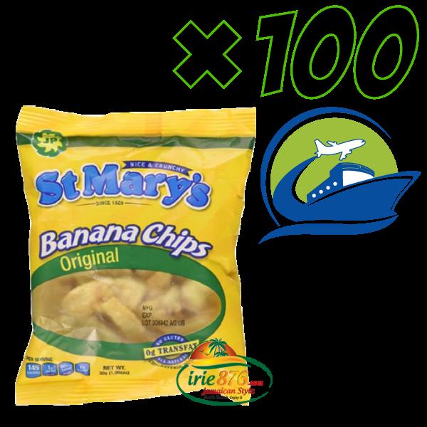 Banana Chips small packs*100 [セントメリーズバナナチップス 100パック (30g)]