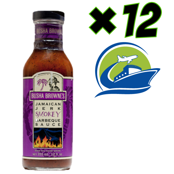 Busha Brownes Smokey Jerk BBQ Sauce 12 oZ   (12本)  (ジャマイカから直送)