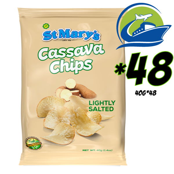 St. Mary's  Casava Chips 48 bags*40 grams [セントメリーズ キャッサバチップス チップス 48パック] (40g)