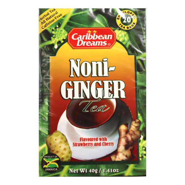 *SALE* Caribbean Dreams Noni Ginger Tea (20バグス)