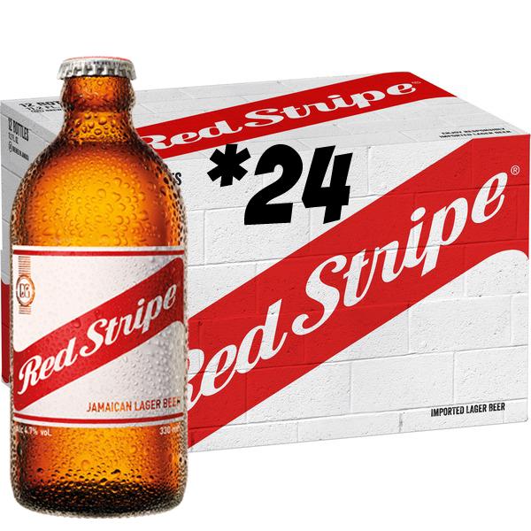 レッドストライプ 330ml/24- Red Stripe Beer-  1 case (  24本)